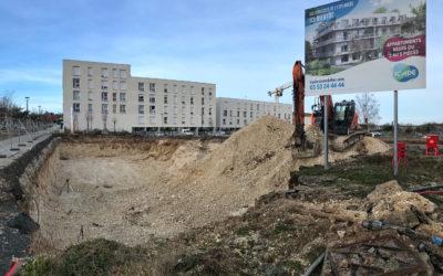 Début des travaux – Les Terrasses de l'Esplanade – Amiens