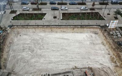 Installation & vue de la grue – Les Terrasses de l'Esplanade – Amiens