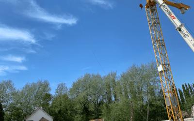 Nouvelle grue et lancement du chantier d'un hôtel B&B – Le Touquet